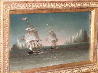 James E Buttersworth On Wood Board With Prov.  The Real Deal Maritime. photo