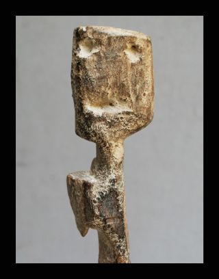 A Unique Kaolin Pigment Ancestor Figure From The Adan Tribe Of Ghana photo