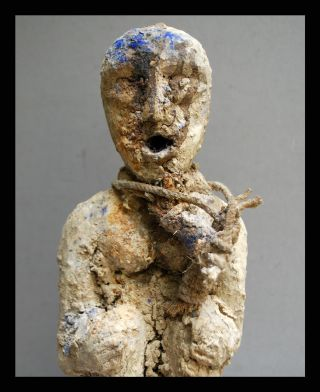 A Wonderful Intense Textural Ewe Tribe Figure From Ghana,  Deep Encrusted Layer photo
