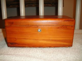 Vintage Lane Cedar Chest Presented By Arthur G.  Schulz - Salesman Sample Chest photo