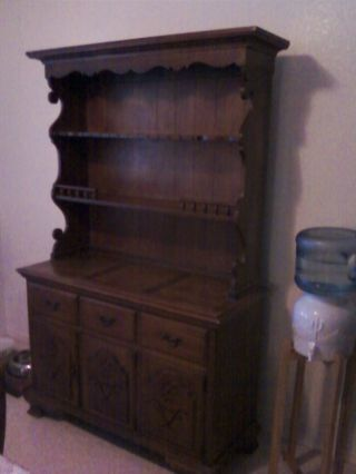 Antique 1950 ' S Broyhill Premier Penn Colony Hutch Buffet - photo