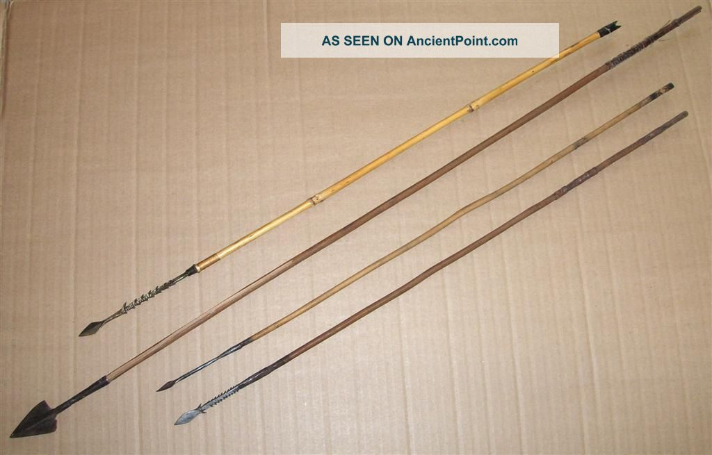 Congo 4 Old African Arrows Flèches Ancienes Afrique Afrika Pijl Kongo Pfeile Other photo