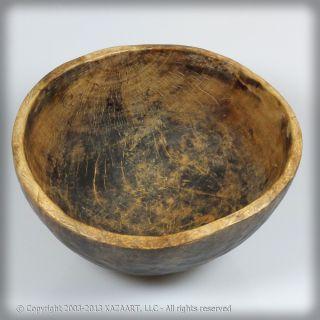 Old Bobo Fing African Wood Bowl Burkina Faso photo