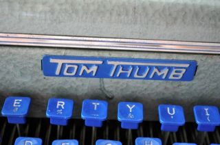 Typewriter Tom Thumb Child ' S Typewriter Vintage Blue With Case photo