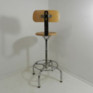 Vintage Ajusto Drafting Swivel Chair Mid Century Industrial Design Stool photo