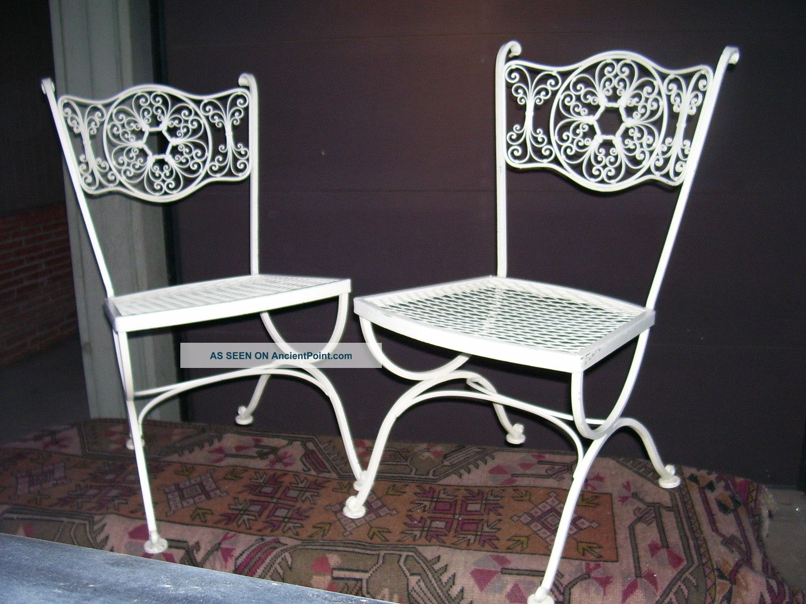 furniture vintage copy woodard wrought best patio table of iron dining