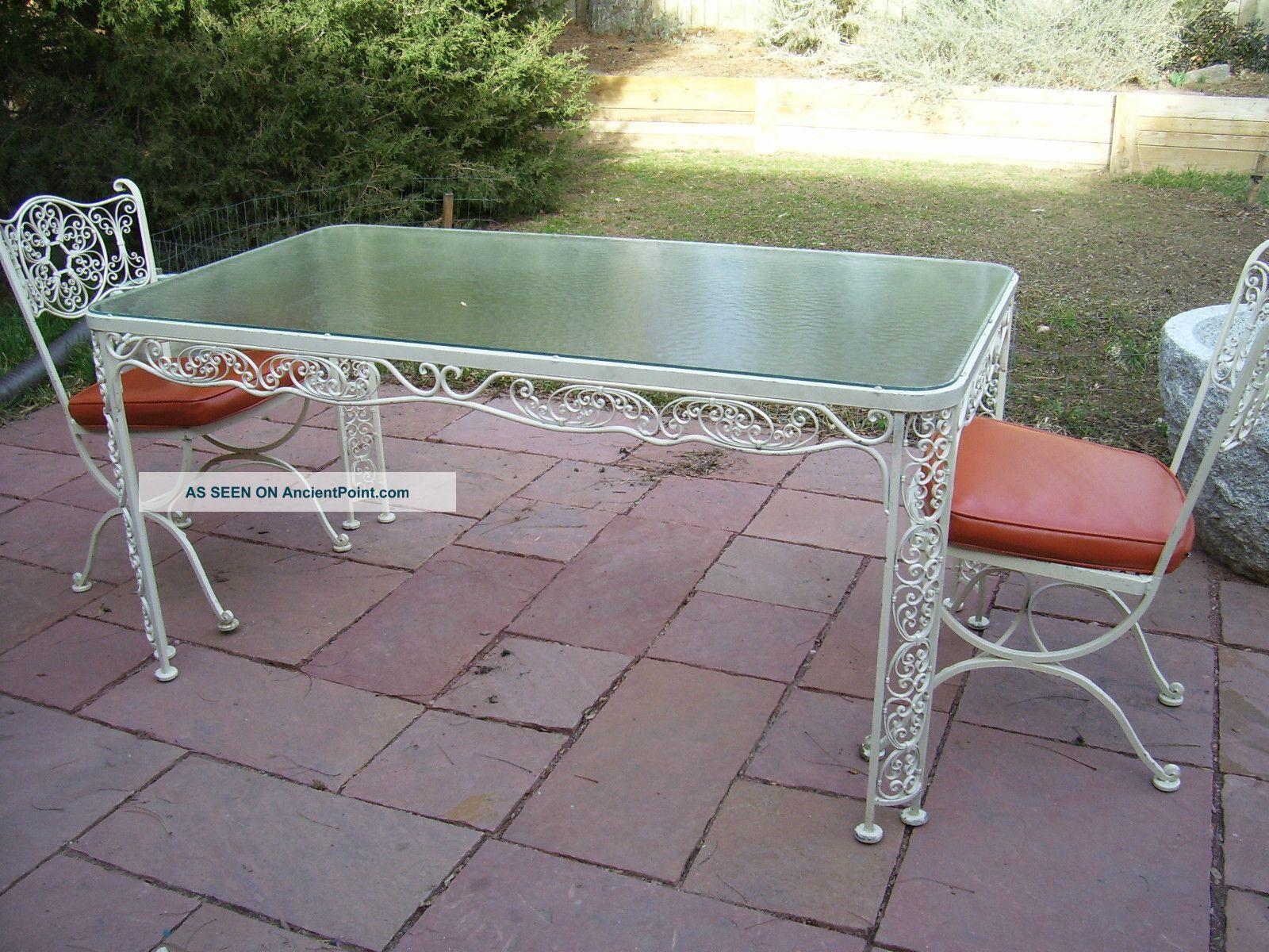 Mid Century Modern Wrought Iron Patio Furniture