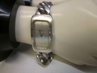 Zina Sterling Silver Link Bracelet Ladies Watch photo