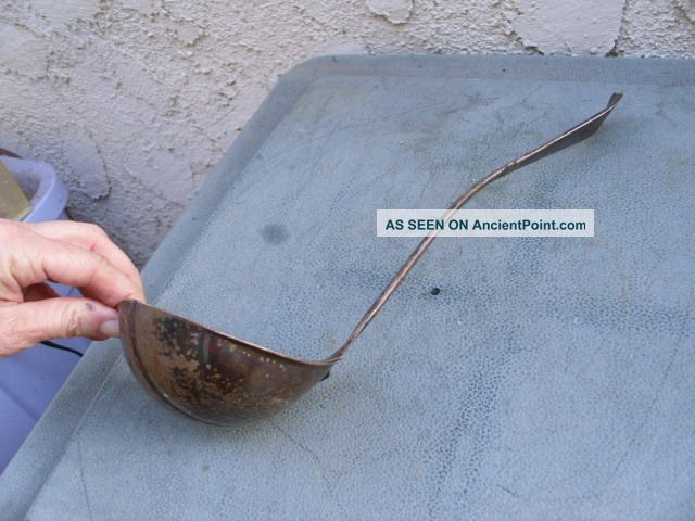 Antique Rodgers Bros.  Silver Plate Large Soup Ladle 13