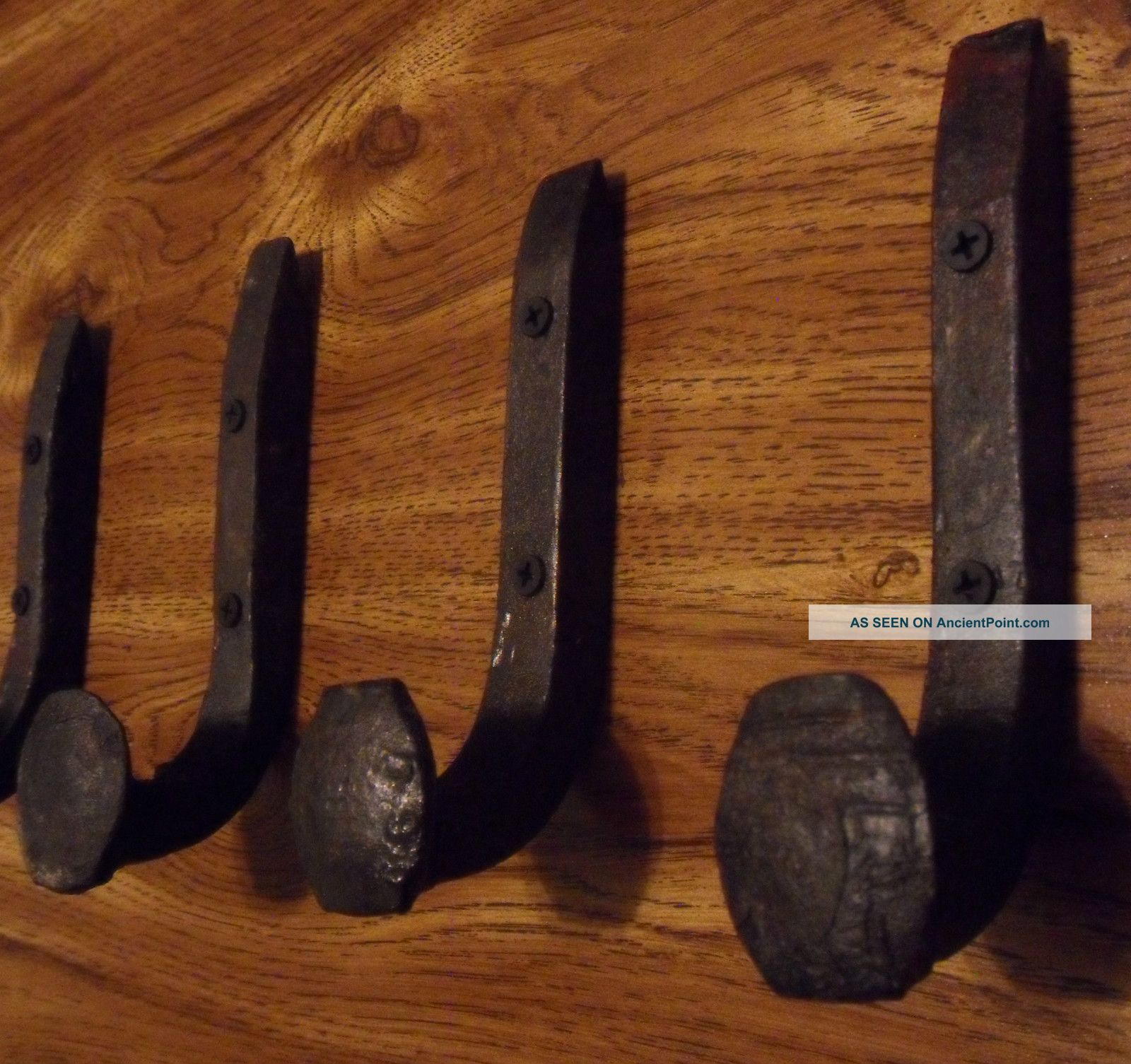 Antique Coat Hooks Old Railroad Spikes Wrought Iron Style Heavy Duty ...
