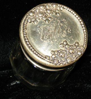 Antique International Sterling Silver Lidded Jar Artnouveau Roses La Pierre Mfg. photo