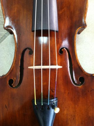 Old Italian Violin Labelled And Stamped: Giuseppe Ornati 1921 photo