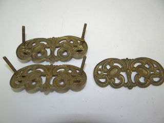 Of Antique Old Victorian Metal & Brass Furniture Escutcheons Hardware photo
