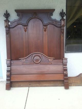 Victorian Period Walnut Full Size Bed photo