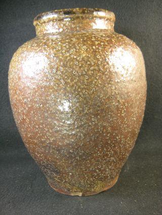 Japanese Vintage Ceramic Shigaraki Salt Glaze Ikebana Vase Bizen Raku Pottery photo