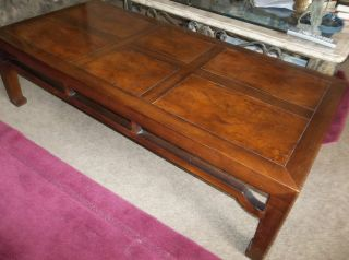 Henredon Burled Maple Coffee Table Parquet Top Mid - Century Beauty Sale Sale photo