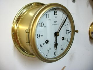 Vintage Schatz German Royal Mariner Ships Clock Working And Service. photo