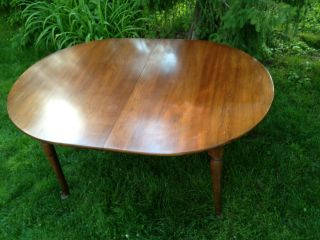 Antique Harris Henkel Cherry Dining Table With 3 Leaves photo