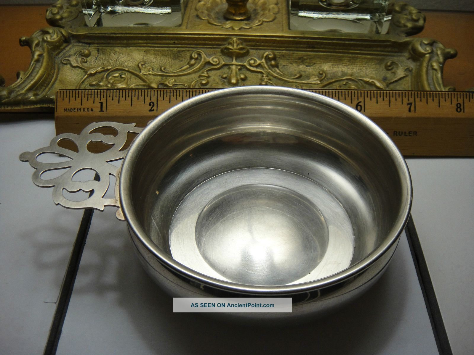 Web Sterling Silver Porringer/wine Taster. Other photo