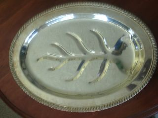 Tray Silver Plate Footed With Cold Meat Fork.  By.  F.  B.  Rogers photo
