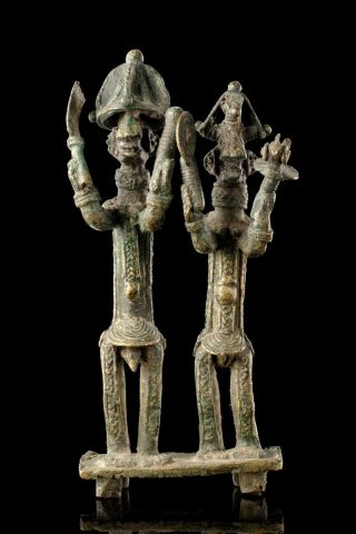 Published Yoruba Bronze Pair With Great Provenance photo