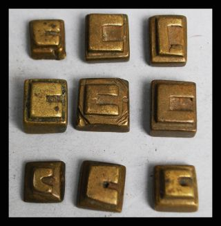9 Themed Geometric 18thc Akan Gold Weights Ex European Collectn photo