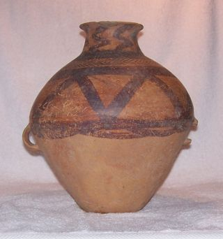 Ancient Chinese Neolithic Pot / Vase / Amphora Yang Shao Culture 2000 Bc photo