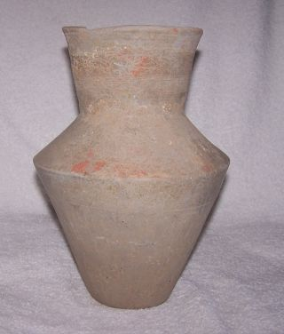 Ancient Chinese Pottery Vase Circa 476 Bc - 221 Bc Warring States Period photo