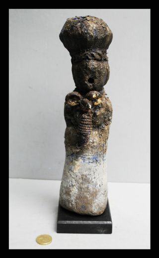An Otherworldly Blue Power Figure From Ewe Tribe Of Ghana photo