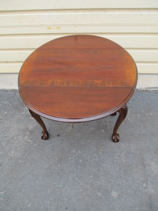 51702 Banded Mahogany Dropside Lamp Table Stand photo