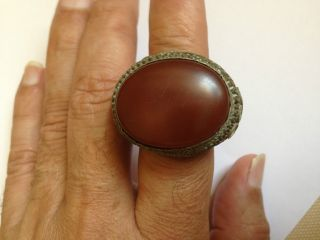 Antique18century Agate Biggest Piece Possible For Sultan Or Emperor Ring Size9us photo