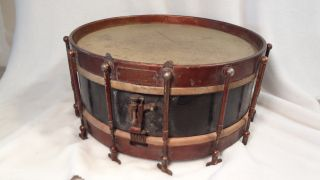 L@@k Antique Snare Drum Age?? Jas H Ward Gary Indiana Ludwig? photo