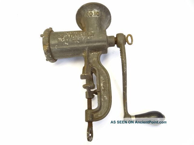 Antique Cast Iron Enterprise Tinned Meat Chopper No 10 Kitchen Meat Grinder Tool Meat Grinders photo