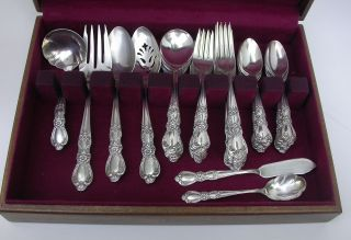 1847 Rogers Bros Heritage 51 Pc Flatware Set,  14 Serving Pcs,  Soup Spoons Ladle photo