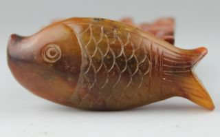 Chinese Horns Hand - Carved,  A Fish Statue Pendant photo