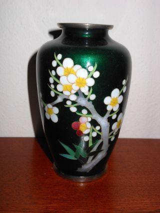 Japanese Sato Guilloche Enamled Or Shippo Cloisonne Vase photo