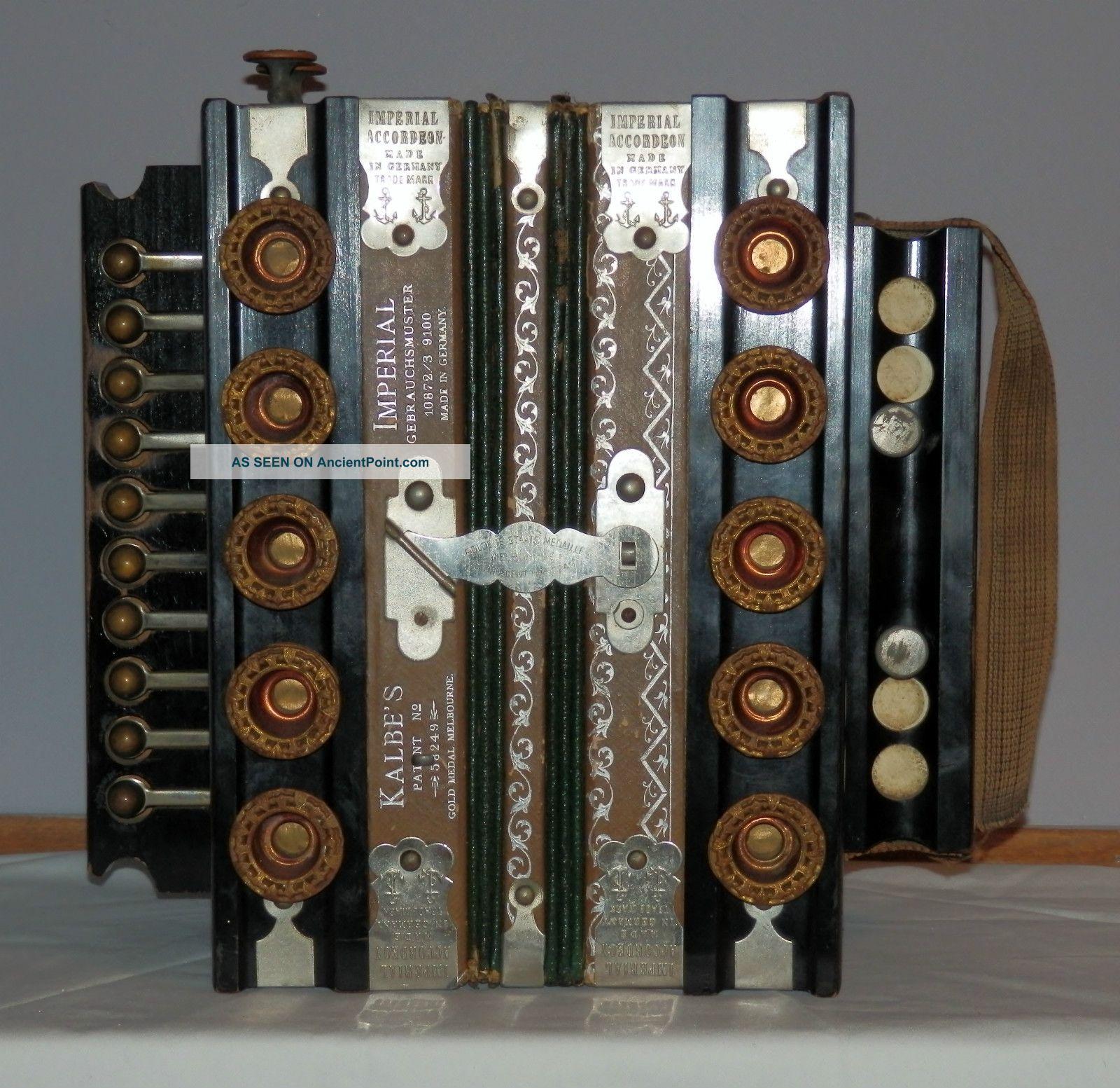 Look Rare 1890 \' S Kalbe \' S Imperial Accordeon Gebrauchsmuster ...
