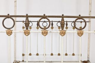 19th Century Four Post Iron Raj Bed photo