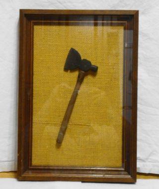 Antique Salemans Sample? Hammer Axe In Frame,  Excellent Presentation photo
