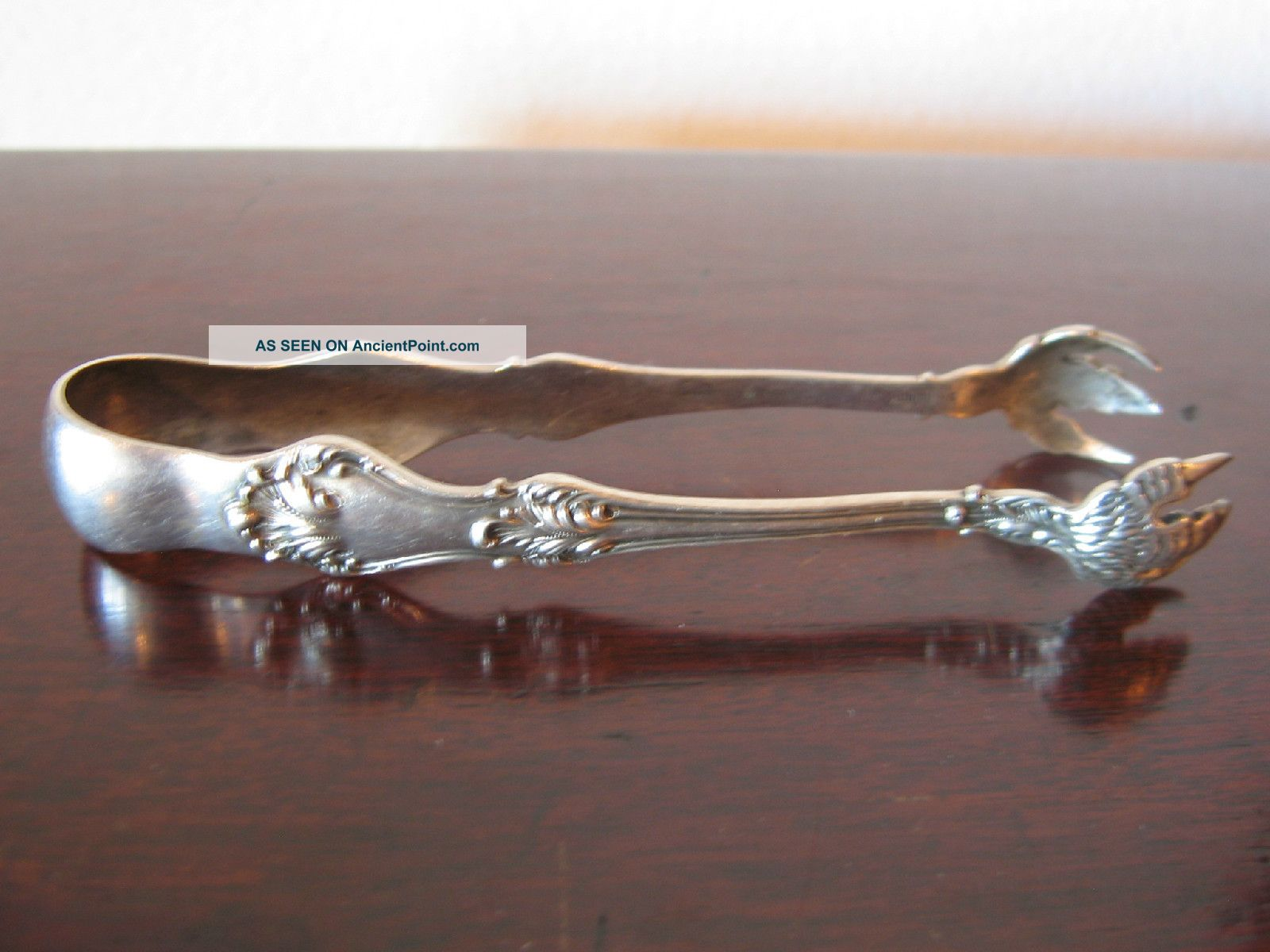 Antique Roger Williams Silver Co.  Sterling Silver Sugar / Tea Tongs Sugar Bowls & Tongs photo