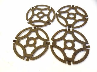Antique Old Metal Cast Iron Woodstove Burner Plate Grates Parts Hardware Nr photo