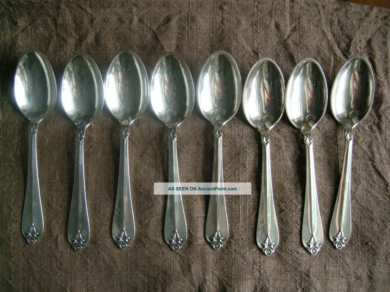 Priced Less Than Melt Set Of Eight Danish Modern Sterling Teaspoons By Cohr Scandinavia photo