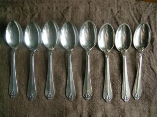 Priced Less Than Melt Set Of Eight Danish Modern Sterling Teaspoons By Cohr photo