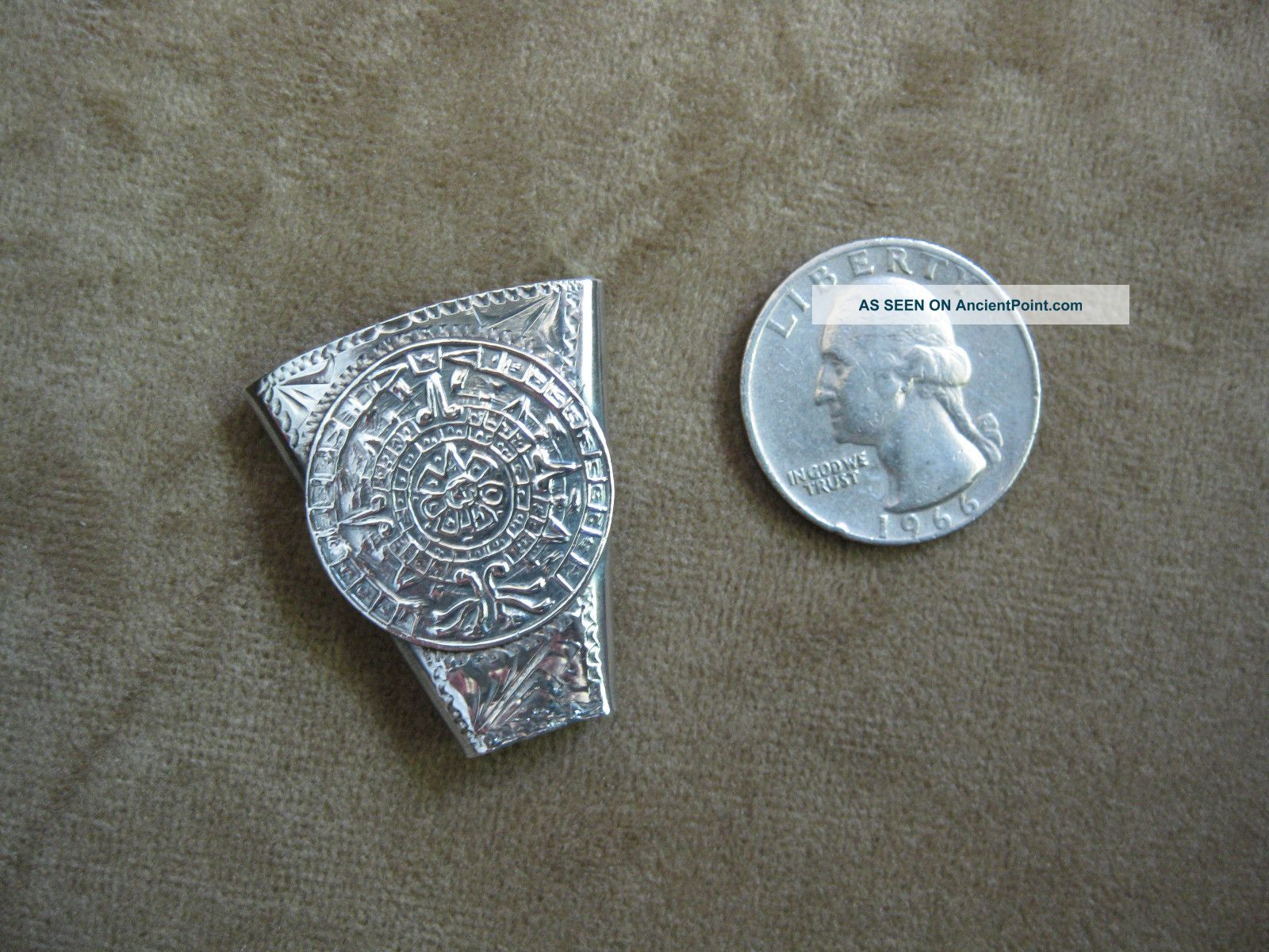 Antonio Pineda Early Mark (1941 - 48) Ap Sterling Silver Bolo Centerpiece Other photo