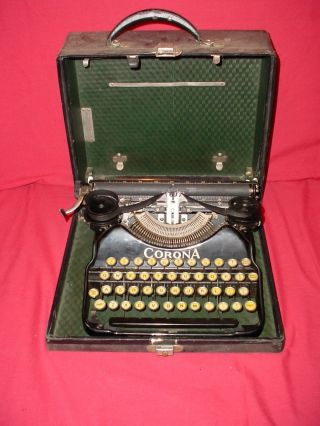 Vintage 1925 Corona Four Typewriter Very photo