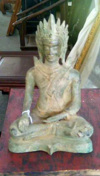 Bronze Buddha From Thailand photo