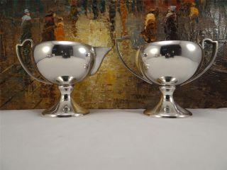 Balfour Sterling Silver Creamer & Sugar Bowl photo