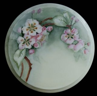 Porcelain Floral Trivet With Hand Painted Blossom Design photo