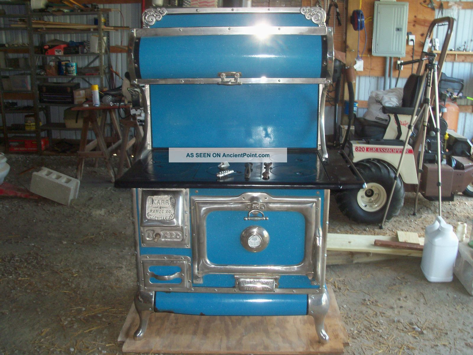 Antique Cast Iron Wood Burning Cook Stove - Image Antique and Candle ...