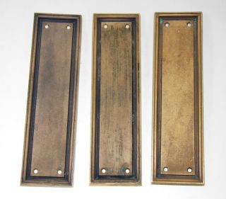 Cast Bronze Push Plates With Simple Lines photo